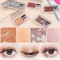 Eye Shadow Single Color Lazy Makeup Palette Glitter Eyeshadow Pallete Waterproof Shimmer Cosmetics Beauty