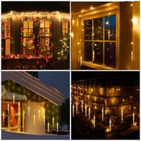 Strings Home Decoration Garland Light 10M LED Curtain Icicle String Lights Outdoor Eaves Christmas Year Halloween Decorative Festoon