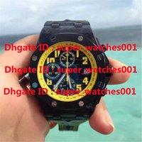 JF V10 26176 Mechanische Uhren Herrenuhr 42mm 3126 Chronograph Bewegung Keramikring Titan-Legierung Fall Kohlefaser-Basis Armbanduhren 10
