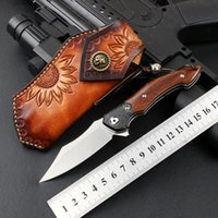 High hardness Blades M390 Folding Knife wood Handle EDC Pocket Self Defence Knives for Outdoor Survival Camping Collectible A holiday gift