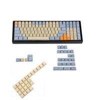 Klavyeler YMDK Lazer Kazınmış İNGILTERE İtalyan İspanya Alman ISO OEM Profil MX Mekanik Klavye YMD96 KBD75 104 87 61 için Kalın PBT Anahtar