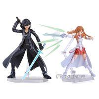 Espada arte en línea sao kirito kazuto figma 174 asuna figma 178 pvc acción figuras juguetes x0522