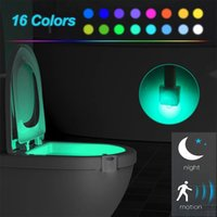 Toilet Led Night Light, 4 Pack Bowl Lights, Motion Sensor Activated 16 Color Lamp up Funny Gadgets for Christmas Stocking Stuffers
