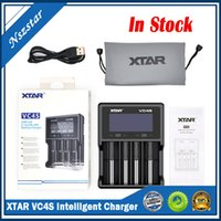 Authentic Xtar VC4 Battery Charger Inteligent Mod 4 Slot with LCD Display for 18350 18550 18650 16650 22650 14650 Li-ion Batteries 100% Original
