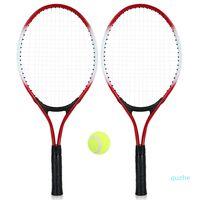 Crianças raquete de tênis raquete com 1 bola de tênis e saco de capa para crianças juventude crianças raquetes de tênis