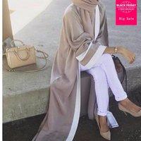 Adulto Casual Moda Listrado Musulmane Turco Dubai Muçulmano Abaya Dress Cardigan Vestes Árabe Oração Adoração Serviço WJ2162 Roupa étnica