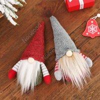 DHL Christmas Handmade Swedish Gnome Scandinavian Tomte Santa Nisse Nordic Plush Elf Toy Table Ornament Xmas Tree Decorations DAN280