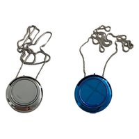Air Purifiers 2 Pcs Wearable Purifier USB Portable Personal Necklace Negative Ion Freshener Silver & Blue