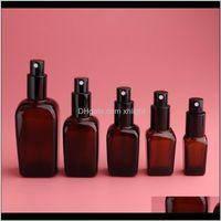 Zimmerschaft Organisation Hausgarten Drop Lieferung 2021 Kesoto 2 stücke Braun Leerer Glas Feinnebel Pump Spray Flaschen für pro Toner Zerstäuber CO