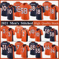 31 Justin Simmons 18 Peyton Manning Football Jerseys 2 Patrick Satain II 3 Drew Lock 58 von Miller 7 John ELway 55 Bradley Chubb Courtland Sutton 10 Jerry Jeudy Jersey