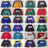 كل الفريق فقط دون السراويل كرة السلة ريترو لوسانجيلليكرزالرياضة القصيرة الأرجواني أسود أبيض أصفر السراويل الورك البوب مع جيب سستة sweatpants رجل الحجم S-2XL