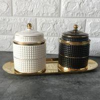 Dame Visage Bougeoir Human Jar Candelabra Rétro Bac De Stockage Céramique Céramique Accueil Décoration Box Box Titulaires