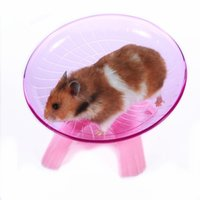 Mascotas Hamster Flying Saucer Ejercicio Rueda Hamster Mouse Running Disc Disc Toy Cage Accesorios