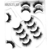 False Eyelashes 5-8Pairs 25 Mm 3D Mink Lashes Bulk Faux With Custom Box Wispy Natural Pack Short Wholesales