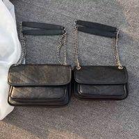 2021 السيدات النفط شمع الجلود حقيبة قطري رفرف سعة كبيرة الأزياء الكلاسيكية واحدة الكتف المحمولة مصمم حقيبة يد