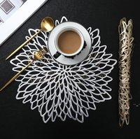 Isolierkissen Tischset für Esstisch-Untersetzer Blume Simulation Pflanze PVC-Tasse Couchtisch-Matten Aushöhlen Küche Weihnachten OWF6231