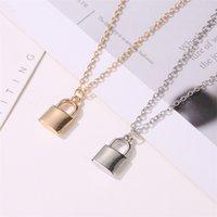 2020 neue Frauen Schmuck Silber Farbe Schloss Anhänger Halskette Marke Neue Edelstahl ROLO Kabelkette Halskette Schönes Geschenk 892 R2