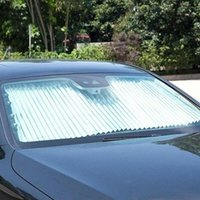 Car Sunshade Retractable Windshield Curtain Anti-UV Sun Rear Window Shade 65CM Front Auto 46CM   Blo H7L6