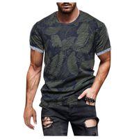 Men's T-Shirts 2021 Retro Plant Print T-shirt Mens Streetwear Casual O-neck Short Sleeve T Shirt Male Summer Outdoor Fashion Gym Top Tees