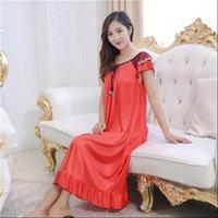 Sexy Nightwear Long Dress Womens Sleepwears Nightgown Casual Night Home Dressing Gowns Sleepwear