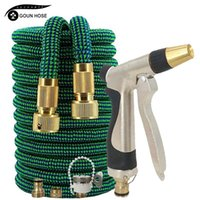 Watering Equipments 16ft-150ft Expandable Garden Hose With Water Gun Adjustable Nozzle Flexible Pipe High Pressure Spray Foam For Car Wash