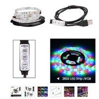 USB lights Mini LED Strips 3 button 24 DC5V 2835SMD light with desktop decorative TV background lighting