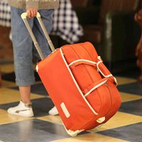 Travel bag female hand large capacity male trolley luggage folding waterproof waiting storage travel J0511