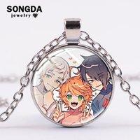 Anhänger Halsketten Songda Anime Das versprochene Neverland Halskette Cosplay Emma Norman Ray Tapferer Jungen Glas Kunstbild Runde Metallkette