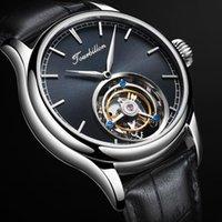 Наручные часы Высокоценные мужские Настоящие Турбийон Механические Часы Атмосфера Счастливые Часы Скелет 2021 Роскошное движение