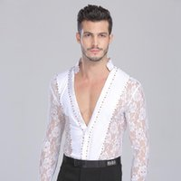 Stage Wear Sexy Latin Performance Dance Lace Long Sleeves Costume Chacha Female Practice Tops Clothing Adult Tango Dancing Clothes DWY700