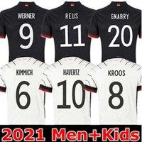 Germania Soccer Jerseys Kimmich Kroos Gnabry Werner Draxler Reus Gundogan Brandt Havertz Sané Klostermann Coppa Europea Uomini Bambini Jersey