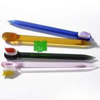 Teeth brush Glass Dabber Hand Tool Colorful Dab Smoking dig rigs Bongs waterpipe