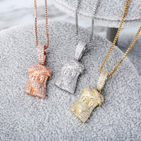Collar de diseño de lujo Joyas de mujer Hip Hop Jesús Pieza colgante Bling Diamante Iced Out Colgantes Declaración Encantos Accesorios de Moda Nuevo