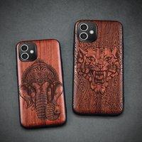 Carve de madeira caso para iphone xr 11 12 pro mini 7 8 mais x xs max shell shell luxo madeira se 2020 tampa acessório de silicone casco