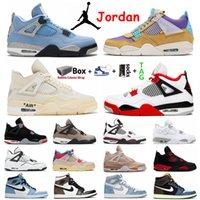 Air Jordans 4s Retro 4 Black Cat Herren Basketballschuhe Jumpman 1 1s Universität Blauer Segel Weiß Zement Guava Eis Hype Royal UNC Obsian Sports Frauen Turnschuhe