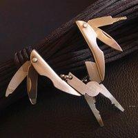 المحمولة متعددة الوظائف قابلة للطي ذو طيات جيب الفولاذ المقاوم للصدأ foldaway سكين المفاتيح المفك البراغي التخييم أدوات البقاء أدوات السفر أطقم FWF8526