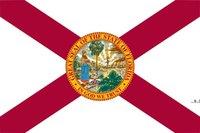 Newwholesale Fabrikpreis 100% Polyester 90 * 150 cm 3x5 fts Florida Flagge der Vereinigten Staaten für Dekoration EWD5631