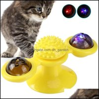 Cat Supplies Home & Gardencat Toys Windmill Toy Teasing Pet With Led Glow Ball Scratching Mas Turntable For Cats Interactive Puzzle Smart Dr
