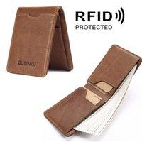 Wallets 2021 Luxury Genuine Cowhide Leather Money Card Wallet Slim Coins Purse Short Men Mini Clutch Clip Case Holder