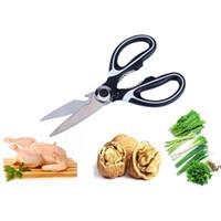 Tijeras de cocina de acero inoxidable Tijeras de cocina multiusos con cubierta de cuchilla Slicer Slicer Smart Cutter Herramientas DWF6527