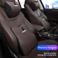 Seat Cushions PU Leather Memory Car Neck Pillow For Universal Back Cushion Headrest Support Waist Quilt Lumbar Accesories