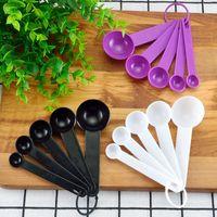 Spoons 5Pcs Set Cups Set Measuring Tools DIY Baking Supplies Portable Stackable Combination Pure Color PP Plastic