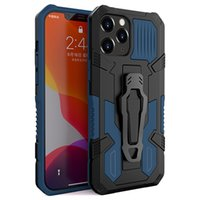 Kickstand Phone Cases For Iphone 13 Pro Max 12 Mini 11 XSMAX XR XS X 8 7 6 Plus Samsung S21 S20 Ultra Magnetic Armor Belt Clip Cellphone Case Back Cover