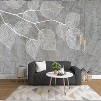 Fondos de pantalla 3D Custom 3D Mural nórdico moderno fresco simple vena simple línea Paño de pared Paño de pared para sala de estar TV Fondo Decoración para el hogar