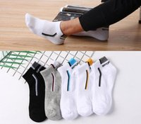 2021 Men's socks in spring and autumn, large size boat socks, individually packaged, breathable short tube sports cotton