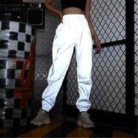 Women's Pants & Capris Streetwear Women Sweatpant Flash Reflective Joggers Hip Hop Dance Show Party Night Jogger Baggy Trousers Plus Size 3x