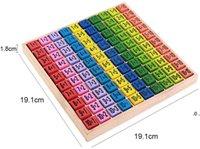 Hölzerne Multiplikation Montessori Pädagogisches Holzspielzeug Math Arithmetische Tischplattenspiel für Kinder Früheres Lernen Geschenk GWA9427