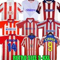 Retro 2004 2005 2013 2014 Atletico Madrid Jerseys de fútbol Kun Agüero Griezmann Maxi F.Torres 04 05 10 11 13 14 15 94 95 96 97 Gabi Forlán Simao Vintage Camisa de fútbol clásico