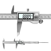 """Professional Hand Tool Sets 8"""" 200mm Digital Caliper Stainless Steel LCD Vernier With Retail+Box Measuring Tools Calipers"""