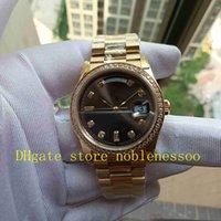 진짜 사진 및 선물 상자 시계 고품질 버전 BP 공장 남성 여성 중소기 36mm 노란 골드 날짜 128238 다이아몬드 베젤 다이아몬드 팔찌 자동 시계